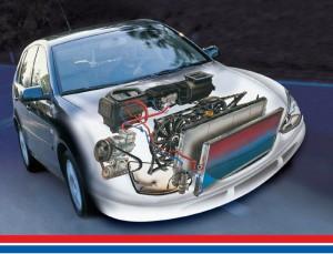 Расположение системы охлождения в автомобиле