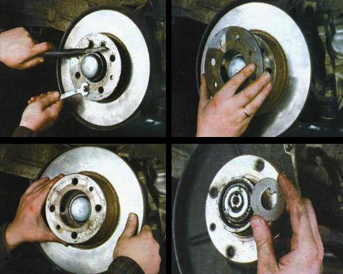 замена подшипника ступицы заднего колеса фото