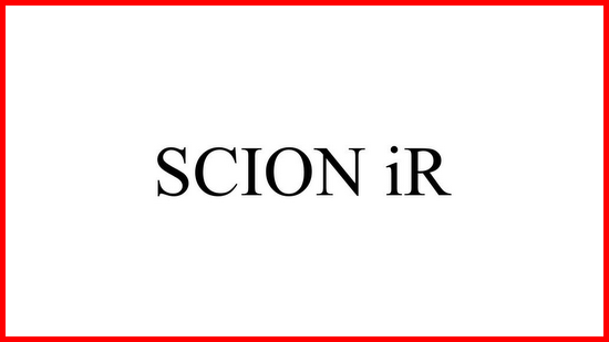 Scion iR Nameplate