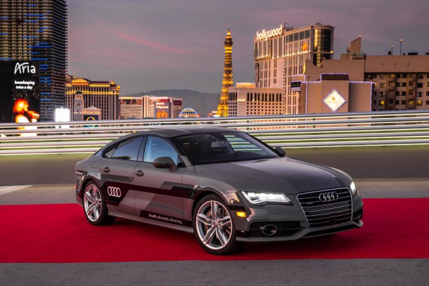 Audi A7 Piloted Driving Vehicle At CES 2015