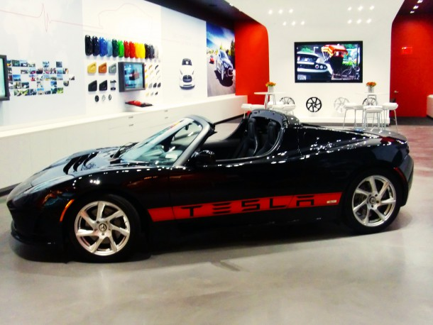 Tesla Roadster In Colorado Showroom Circa August 2011