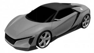Подача заявок на патент раскрывает меньшего брата к Honda NSX можно