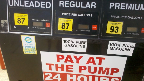 E10 + 100 Percent Gasoline at the Pump
