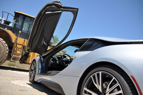 2015 BMW i8 rear open door