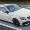 Mercedes-AMG C 63 S Coupé (C 205) 2015; Exterieur: designo diamantweiß bright, Night Paket exterior: designo diamond white bright, night package