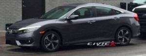 2016 Honda civic revealed ahead of September 16 debut?