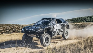 The prototype Peugeot for Dakar made more powerful