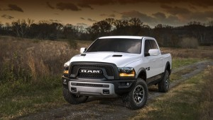 A big Ram pickup truck decided to turn in the SUV