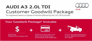 Audi предлагает его собственной доброй воли программы для А3 ТДИ владельцев