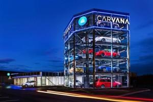 Carvana представляет пяти-этажное подержанный автомобиль Торговый автомат
