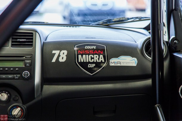 Nissan Micra Cup Race Car at MIA-2