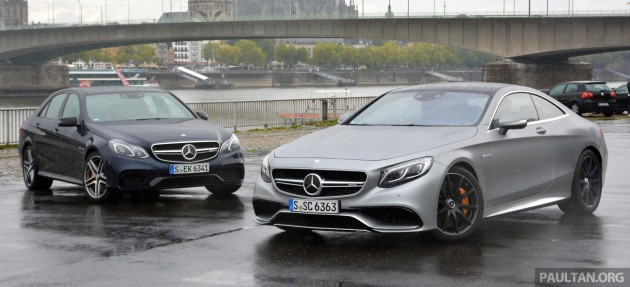 Mercedes-Benz S 63 AMG Coupe and E 63 AMG S-3