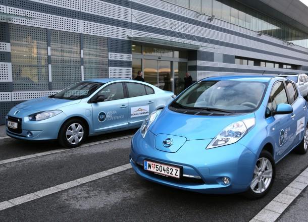 Renault Fluence Z.E. and Nissan Leaf Circa 2013