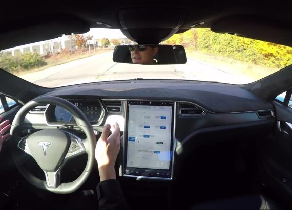 2016 Tesla Model S P90D Autopilot Demo | Autoblog Tech