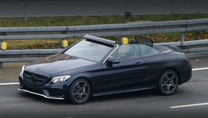 The Mercedes-Benz C-class appeared on the street