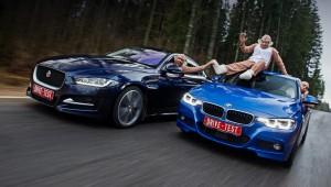 Obezyannike driving turbosedanov Jaguar XE and BMW 330i