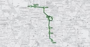 Kinrara-Дамансара шоссе (Kidex) трассы может быть использован для общественного транспорта линии